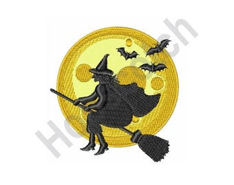 Flying Witch - machine embroidery design