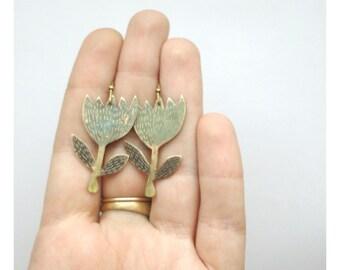 """Brass  earrings """"Harebells"""""""