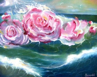 Oil painting. Cycles of beauty in nature. Oil painting
