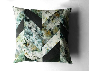 Hand Dyed Quilted Cushion