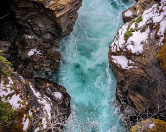 Athabasca Falls Photography Print