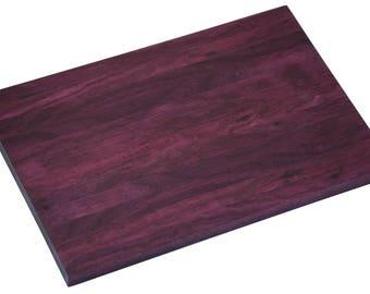 Purple Heart Wood - Edge-Grain Cutting Board and Serving Tray