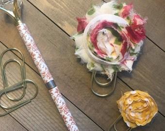 Shabby Flower Clip Set