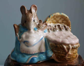 Royal Albert Hunca Munca and babies  Figurine  Excellent condition