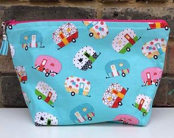Caravans - Zippered Project Bag