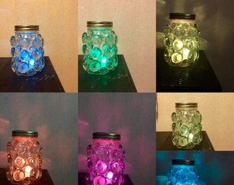 Mason Jar Luminaries, Mason Jar Night Light