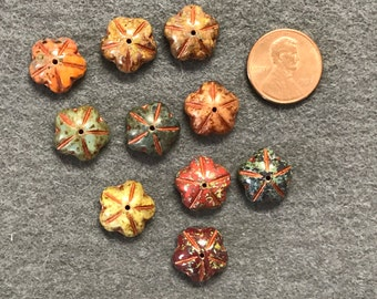 Czech Glass Flower Beads