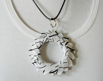 Necklace of paper.