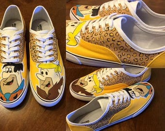 Flinstones hand painted shoes