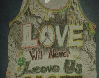 Vest Top with Red Gold and Green Reggae Lyrics