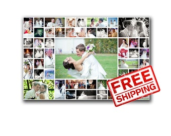 Wall Decor Idea Valentine's Day gifts Photo collage on canvas Printing on canvas