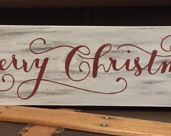 Merry Christmas Sign / Holiday Signs / Christmas Decor / Holiday Decor / Rustic Christmas