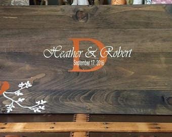 Wedding GuestBook Sign / Wedding Decor / GuestBook Signature Sign / Wooden Guest Book