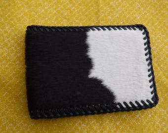 Vintage Cowhide Mens Wallet  Black & White   Cowhide  Fancy mens accessory  Money Holder Western Wear