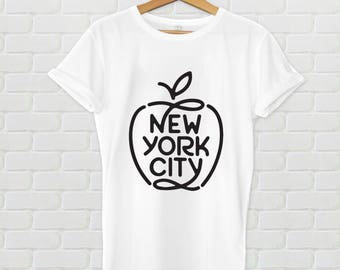 New York City tshirt - New York City shirt, NYC Apple, New York shirt, Big Apple shirt, NYC big apple, I love ny, I love nyc, nyc graphic