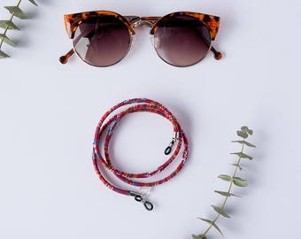 SUNGLASSES CORD ETHNIC burgundy.