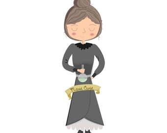 Feminist Plush Marie Curie