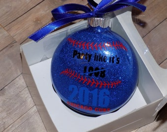 Cubs World Series Ornament