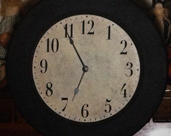 18 Inch Framed Antique Wall Clock