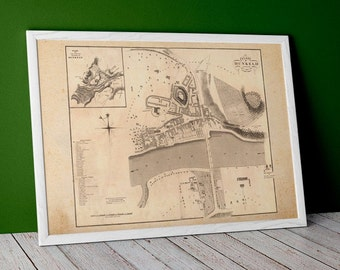 Dunkled Old Map | Giclée Fine Art Print | Vintage town plan, antique map of Dunkeld, Perth and Kinross Scotland Town Map of 1883