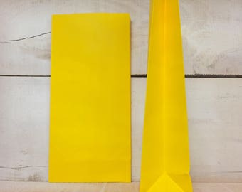 10pk Paper lolly/favour bags - yellow