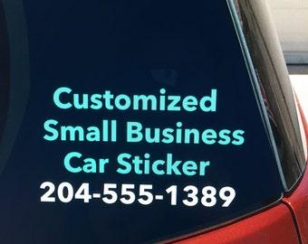 Small Business vinyl car window sticker / decal