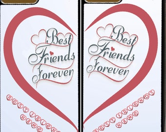 Best Friends Forever / True Love & Valentines Day Themed Phone Phone Cases for Apple iPhone and iTouch Devices