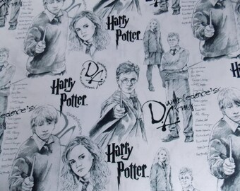 Harry Potter Fabric By the Yard By the Half Yard Dumbledore Fabric Cotton Fabric Movie Fabric Harry Potter Craft Fabric Quilt Fabric