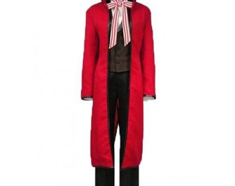 Black Bulter Grell Sutcliff Suit Set Cosplay Costumes