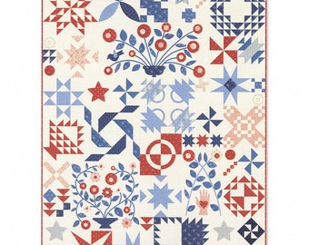 Minick and Simpson Portage Lake quilt pattern, complete set,