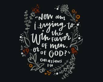 Galatians 1:10 - square digital download (8x8in)