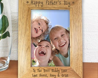 Personalised 'Happy Father's Day' Photo Frame, Father's Day Gift, Daddy Gift, Gifts for Dad, First fathers day gift, Free UK Delivery