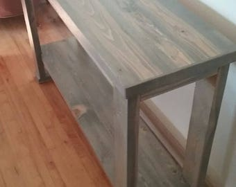 Custom Entry Way Table - Gray Wash Finish (Ready to Ship)