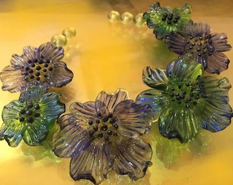 Glass beads Flowers