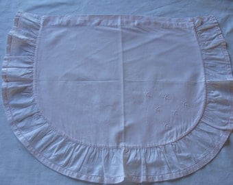 Pillowcase pillow old baby pink pale half-oval cotton embroidered