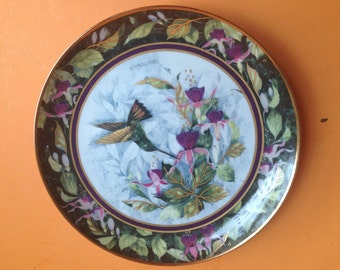 Limited Edition Berylline Hummingbird Collectible Plate