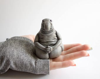 Homunculus loxodontus, Zhdun, Ждун - handmade polymer clay figurine. art doll