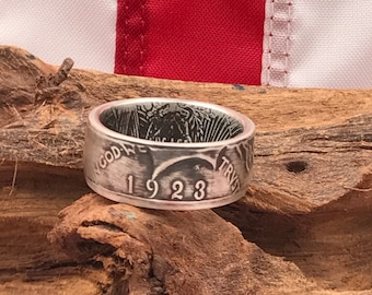 U.S. Silver Peace Dollar Coin RIng