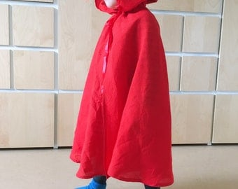 Little Red Riding Hood Cape cotton costume