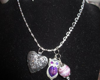 Aromatherapy Diffuser Necklace - Owl