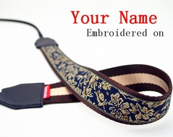 03 Custom  Camera Strap  Personalized Camera Strap etnic Embroidered DSLR Sony, Nikon, Canon Accessories Photography Gift Birthday Gift Boho