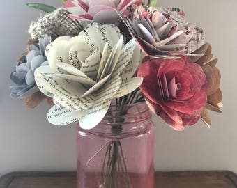 Paper Rose Bouquet with Vase