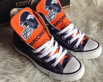 Custom Made Broncos Converse shoes