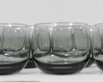 Grey Set of 10 Roly Poly Barware Glasses, 1950s Vintage