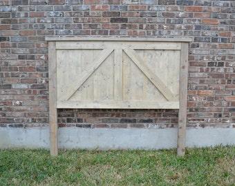 Rustic Barn Door Farmhouse Headboard