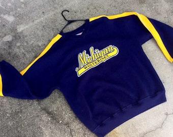 Vintage Michigan University Wolverines Sweatshirt Pullover