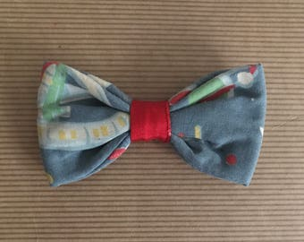 Slip on Dog bow tie collar accessory in Cath Kidston Outer Space print