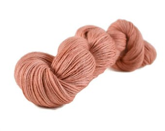 Alpaca Silk Yarn, Sport weight yarn, alpaca yarn, silk yarn, sport weight alpaca yarn, hand dyed yarn - Peach