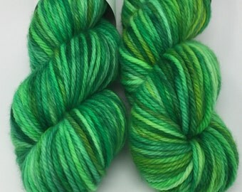 Sale! Hand Dyed Yarn -  Chunky - Emerald City- 100% Superwash Merino Wool Yarn