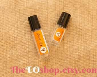Oh, Poop! Roller Blend of Essential Oils for constipation, constipated, help pooping